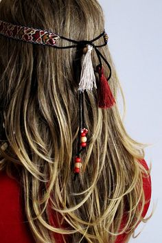 Boho Headband Bohemian tassel headband hippie headband от selenayy