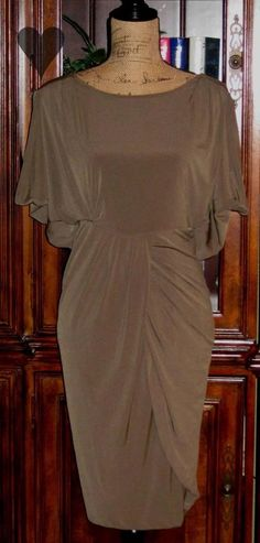 VICTORIA'S SECRET ORIG$88 MATTE JERSEY DRAPE SLEEVE RUCHED WRAP DRESS XSMALL #VictoriasSecret #WeartoWork