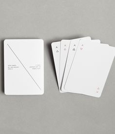 Brooklyn designer Joe Doucet's playing cards are as minimalist as they come. $25 for a pack at Module R.