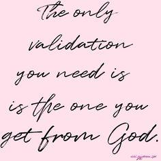 Validating self worth