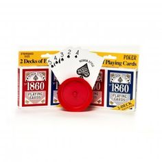 2 Decks of Top Quality Playing Cards - Casino party games
