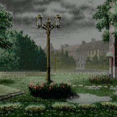 Thomas Kinkade Paintings of The Rain | ... fighting game had a stage set on the rain-soaked streets of Carmel