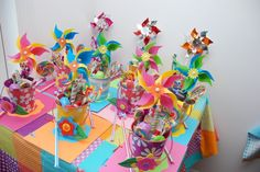 pinwheels for lalaloopsy party ...   Great Facebook lalaloopsy party page with a ton of great ideas