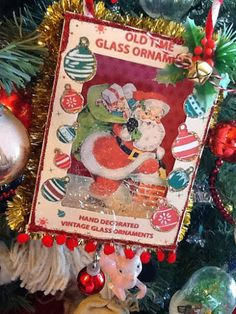 Old Ornament Box Decorations - Paintin-Patti Christmas Town, Christmas Scenes, Merry Little Christmas, Christmas Art, Christmas Projects, Christmas Holidays, Christmas Ideas, Christmas Graphics, Christmas Images