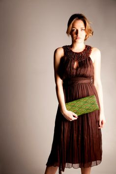 Clutch bag in leather and pvc weaving fabric 100 by vquadroitaly, €110.00