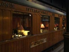 Looking through the might time windows of the Orient Express . . .