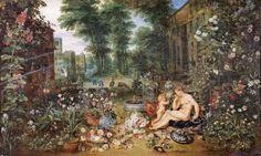 Brueghel & Rubens - The five senses: The smell [1618]