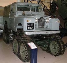 Gaydon's example of the Cuthbertson tracked Series Land Rover.