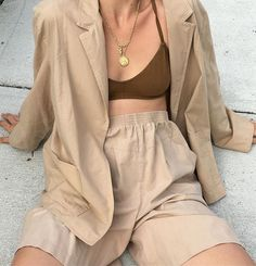 "706 Likes, 5 Comments - Na Nin Vintage (@naninvintage) on Instagram: ""Vintage incredible sand cotton set. Size fits modern l, shown oversized on small frame, waist of…"""