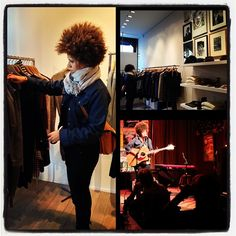 Photo by deVon Gray: We did good work here in Belgium. Shopping with a fringe of music. @chastity_brown