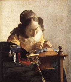 The Lacemaker  1670  by Jan Vermeer