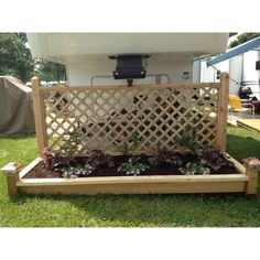 Another awesome planter box my  DH (darling husband) made for our campsite!