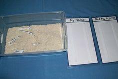 Name Sort with sensory box
