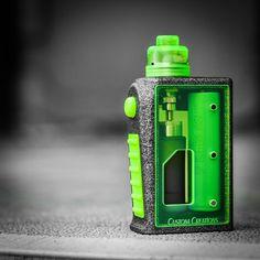 "86 Likes, 8 Comments - Brent Kirkland (@vaporchaser_510_avm) on Instagram: ""Mean Green. •• @customcreationsnh Alumide v2 STOMP w/neon green panels/button and grip.…"""