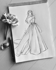 Instagram post by Marhia Augusta • Oct 25, 2020 at 4:17pm UTC Wedding Dress Illustrations, Illustrators On Instagram, The 4, Wedding Dresses, Instagram Posts, Art, Bride Dresses, Art Background, Bridal Gowns