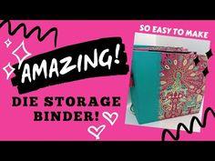 💥AMAZING Die Storage BINDER!💥 GENIUS SPINE!! - YouTube Space Saving Storage, Craft Room Storage, Storage Organization, Paper Art Projects, Invitation Paper, Paper Cards, Binder, Mini Albums, Paper Flowers