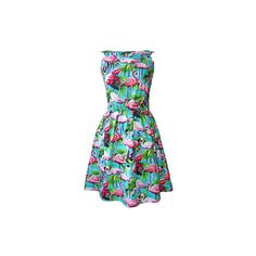 Pretty flamingo fashion ❤ liked on Polyvore featuring dresses
