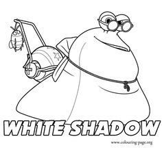 Look, here is White Shadow! He is a nice character in Turbo movie. Have fun with this beautiful coloring page!