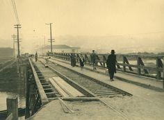 Ponte da Casa Verde (04/09/1935) - Obras de reforma da Ponte da Casa Verde, ligação entre os bairros da Barra Funda e casa Verde.