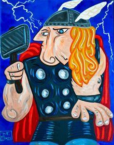 WonderBros-superheroes-Pablo-Picasso-2-600x758