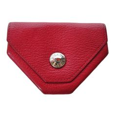 Hermes origami red leather coin purse - $450.