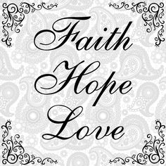 SVG, EPS, PNG Cut file, Faith Hope Love cut file, Svg sayings, home svg cut file, cricut, silhouette cut file, scrapbook file by InspiredDesignShoppe on Etsy