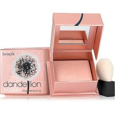 Benefit Cosmetics Dandelion Twinkle Nude-Pink Powder Highlighter & Luminizer Nude Pink - Dandelion Twinkle is Benefit's delicate highlighting and luminizing powder in the perfect nude-pink shade. Its baked technology creates a sheer, whisper-light texture and delicate radiance, perfect for highlighting and brightening for a luminous girly glow.