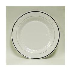 sc 1 st  Pinterest & Mystique 10.25u201d Round Heavy Duty Plastic Plates White/Silver - 50ct