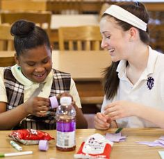 Big sister-little sister community outreach program benefits both younger and older students