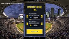 MLB Tap Sports Baseball 2018 Hack - Get Unlimited Cash and Gold a DAY ! Pick the amount of Cash and Gold GENERATE Enter your Username and Selelct Your Device Sports Baseball, Money Tips, Cheating, Mlb, Hacks, Tips