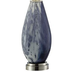 Crestview Collection Emma Blue Reaction Glass Table Lamp more views Glass Jug, Glass Table, Crestview Collection, Contemporary Table Lamps, Elk Lighting, Bedroom Lamps, Purple Glass, Drum Shade, Polished Nickel