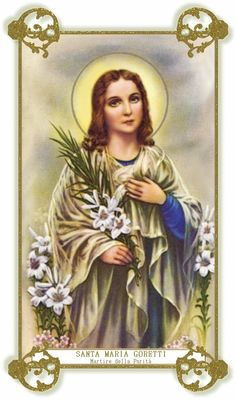 Little Catholic Home & School: Feast Day of St. Maria Goretti Activities