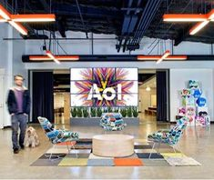 This AOL Office Elevates Open Office Concepts #office #workplace trendhunter.com