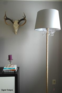 Upcycled DIY Chandelier Lamp