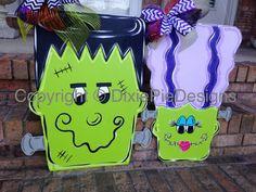 Halloween Door Hanger Fall Door Hanger by dixiepiedesigns on Etsy
