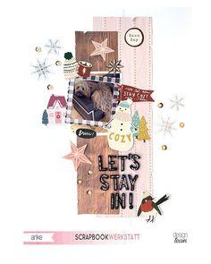 Dog Scrapbook, Scrapbook Pages, Scrapbooking Layouts, Digital Scrapbooking, Barn Dance, Paper Snowflakes, Crate Paper, December Daily, Crates