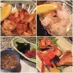 . 鯛の白子は醤油も塩も ポン酢も頼めば良かったかなw . 左下はのれそれと突き出しの鮪です のれそれがいいお口直し . そして愛しのきんき 脂たっぷりです(o) . 活気があって素敵な魚はんさんでした . #東心斎橋 #大阪グルメ #予約必須 #魚はん #山葵が美味しいお店  #白子 #白子中毒  #のれそれ #きんき #塩焼き #ふぐの白子不足 by mgmgmg66