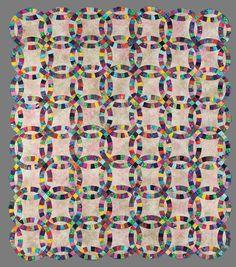 Double Wedding Ring Quilt - Batik Quilt Patterns & Quilt Kits