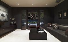 Dark Colour Scheme for Media Room. Gives it a Cinematic feel.