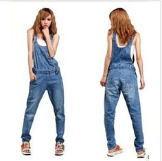 Promotion!!!romper  jeans denim bib overalls women jumpsuits female overalls fashion ladies summer 2013 $29.70