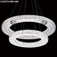 Modern LED Crystal Pendant Light Two rings Fixture Modern Light Fixtures, Pendant Light Fixtures, Crystal Pendant Lighting, Three Rings, Modern Decor, Chandelier, Ceiling Lights, Crystals, Luxury