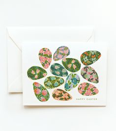 pretty easter egg card from rifle paper company