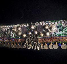 Emerald Green Silk Sari Tribal Bellydance Coin от MedinaMaitreya