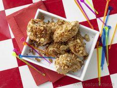 Goldnuggets im Flockenmantel - smarter - der perfekte Kindersnack.   Kalorien: 249 kcal | Zeit: 20 min. #kids
