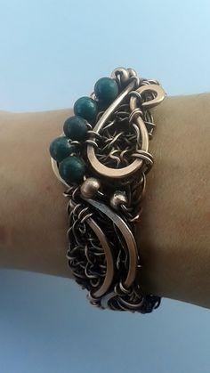 Copper braceletHandmade copper wire bracelet with by Tangledworld
