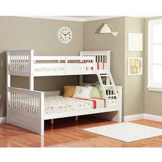 Dallan Twin Over Full Bunk Bed White