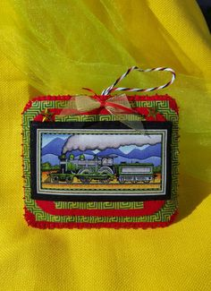 Felt Train ornament-Handmade felt and by DebsArtsyEnchantment