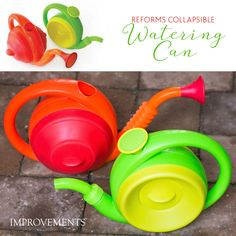 The Reforms Collapsible Watering Can is functional modern art for your garden. This intelligent silicone watering can folds flat and expands just as far as you want it to. It holds up to one gallon and its cheery, contemporary design will make you smile as it helps make your flowers grow.