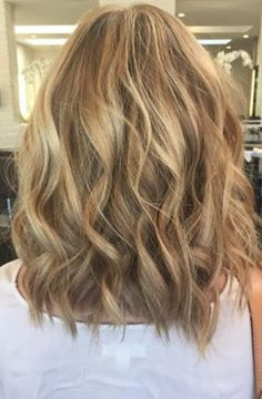sandy blonde and beach waves
