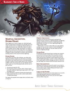 Storm Heart(Originally Storm Blade)// A fighter archetype that has a literal storm inside them// Draft - PDF available Dungeons And Dragons Rules, Dungeons And Dragons Classes, Dnd Dragons, Dungeons And Dragons Homebrew, Eldritch Knight, Dnd Stories, Dnd Classes, Dungeon Master's Guide, Dnd Races